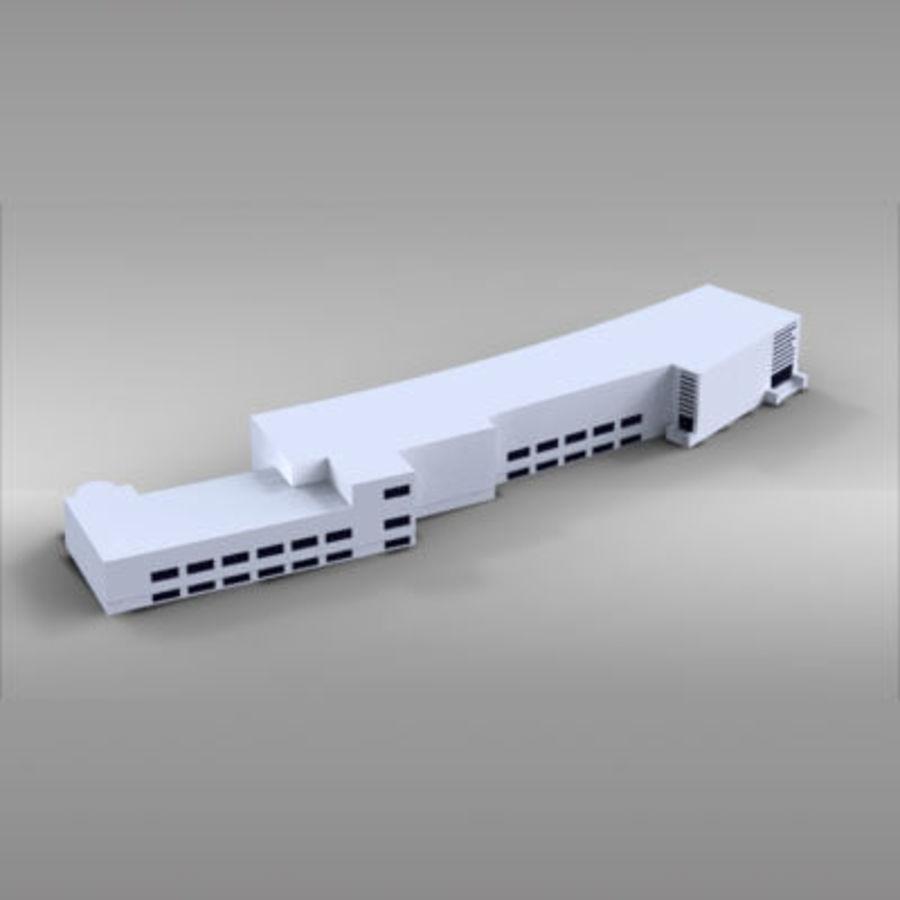 La casa del balilla Foro Italico royalty-free 3d model - Preview no. 5