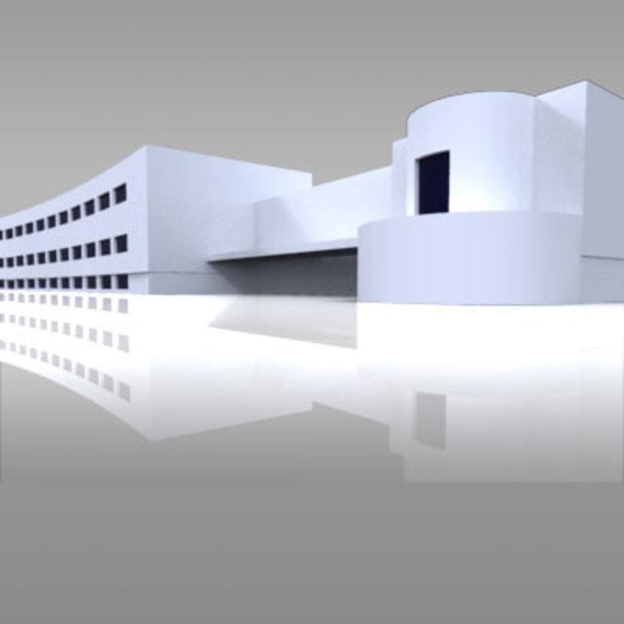 La casa del balilla Foro Italico royalty-free 3d model - Preview no. 1