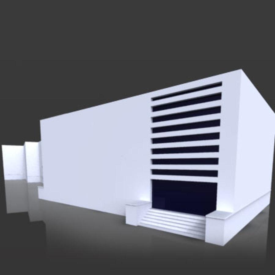 La casa del balilla Foro Italico royalty-free 3d model - Preview no. 4