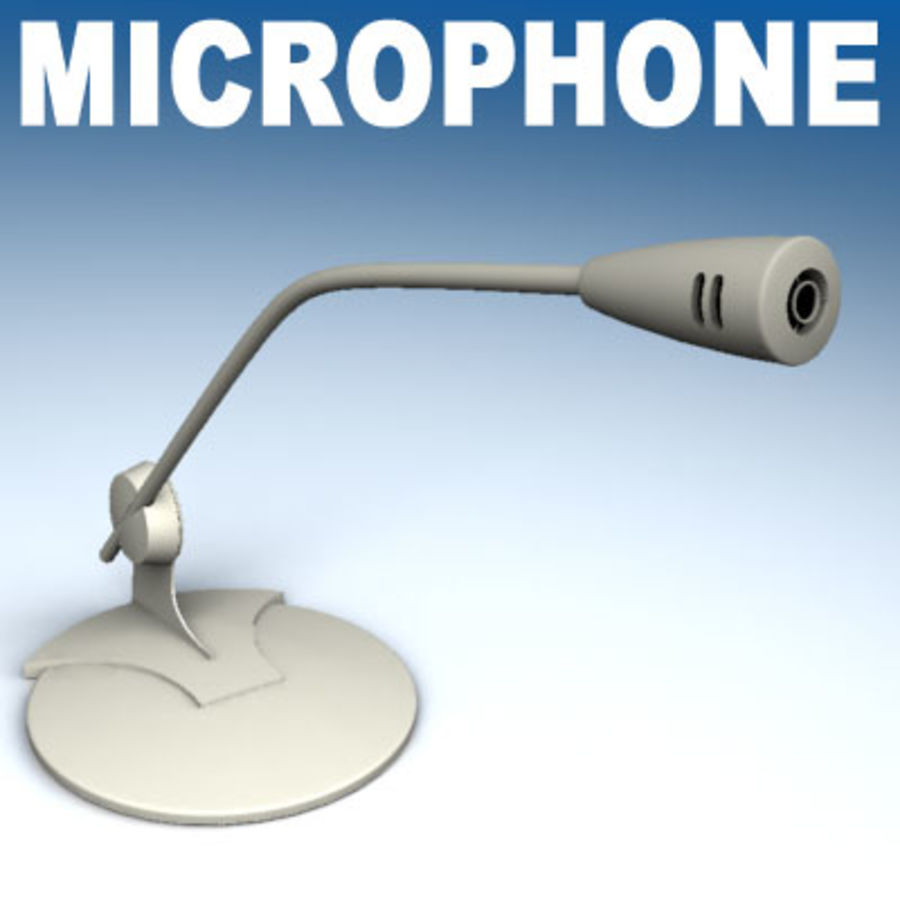 Microphone PC royalty-free 3d model - Preview no. 1
