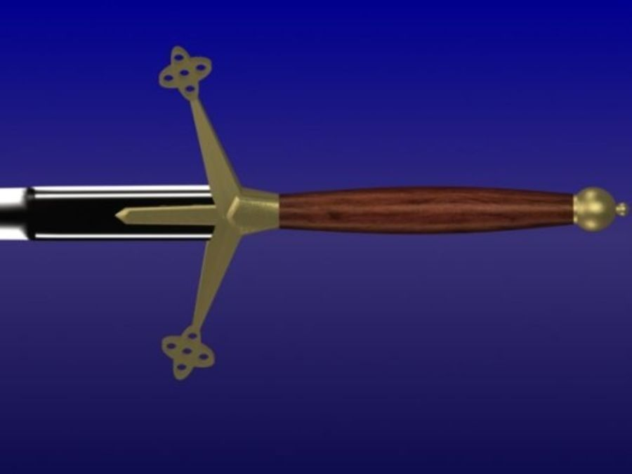 3d_sword.3DS royalty-free 3d model - Preview no. 3