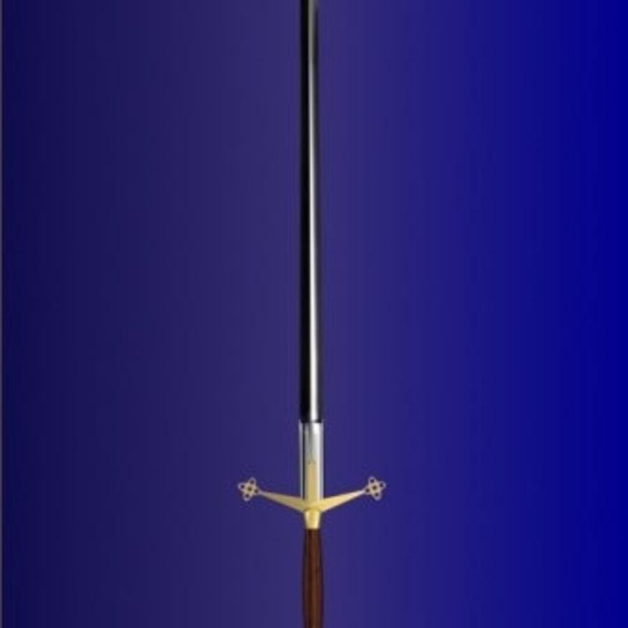 3d_sword.3DS royalty-free 3d model - Preview no. 1