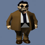 Cartoon_Gangster 3d model