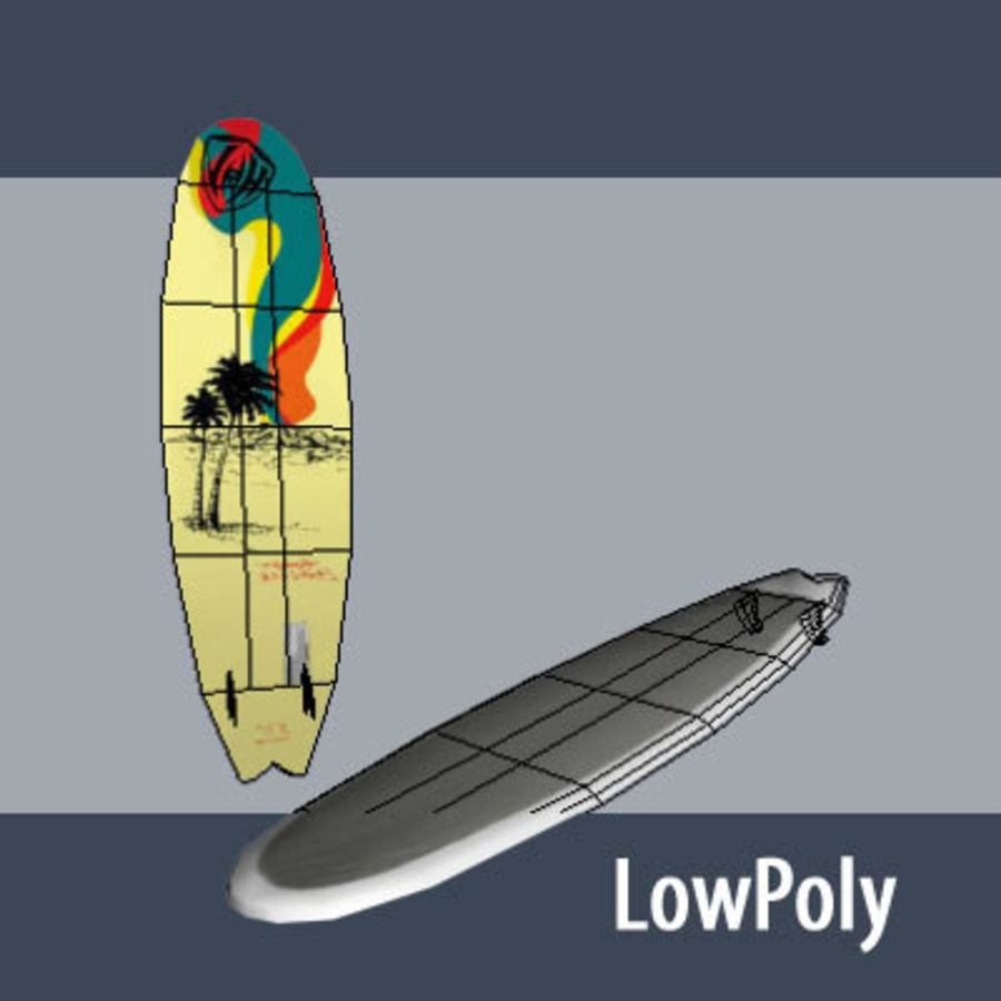 Wakeboard per il kitesurf royalty-free 3d model - Preview no. 3
