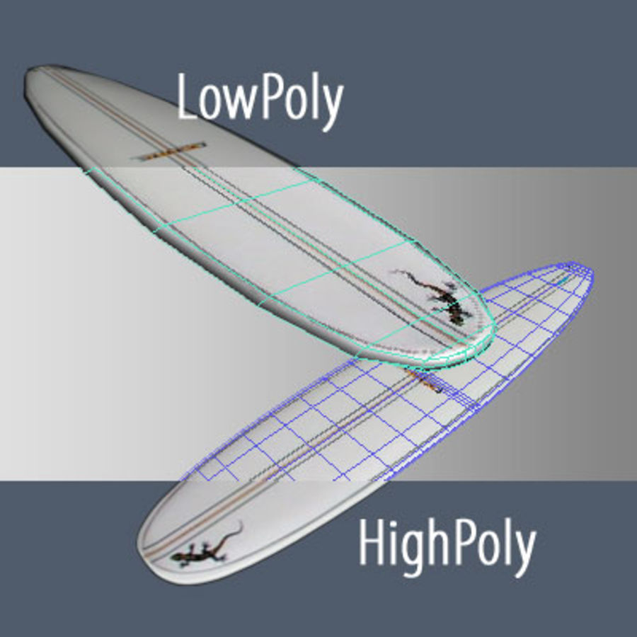 Longboard royalty-free 3d model - Preview no. 4