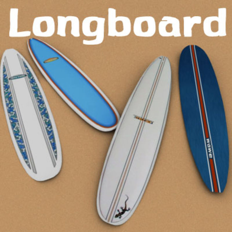 Longboard royalty-free 3d model - Preview no. 1