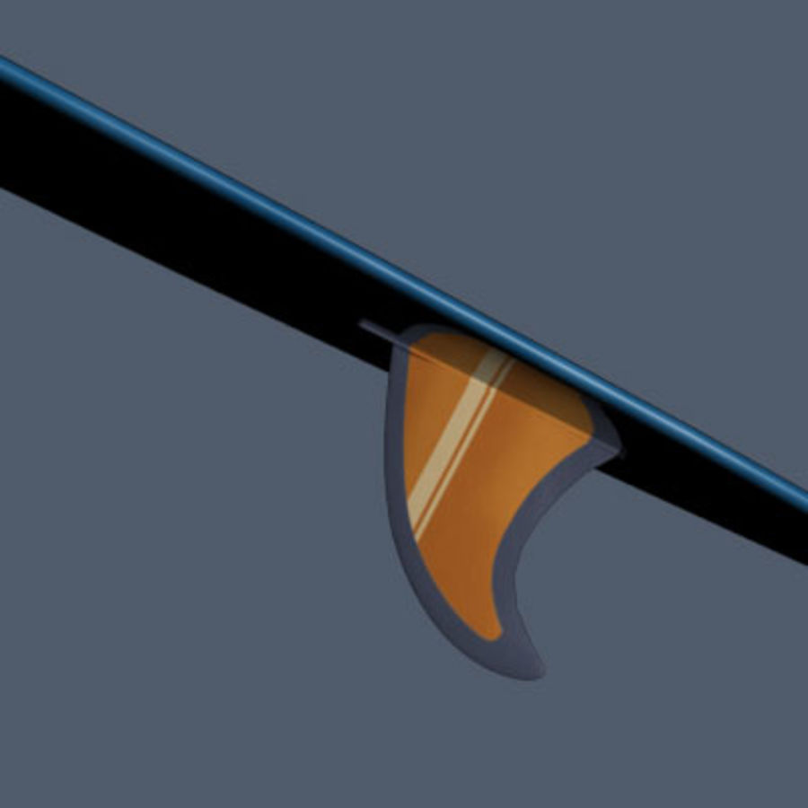 Longboard royalty-free 3d model - Preview no. 3