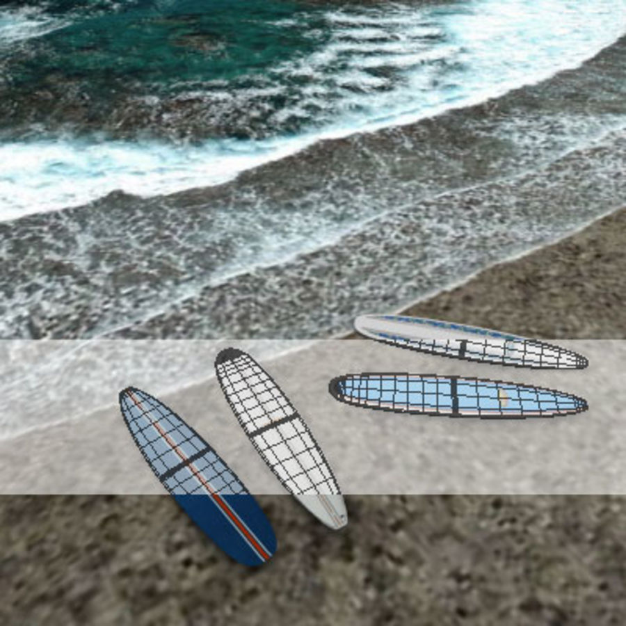 Longboard royalty-free 3d model - Preview no. 2