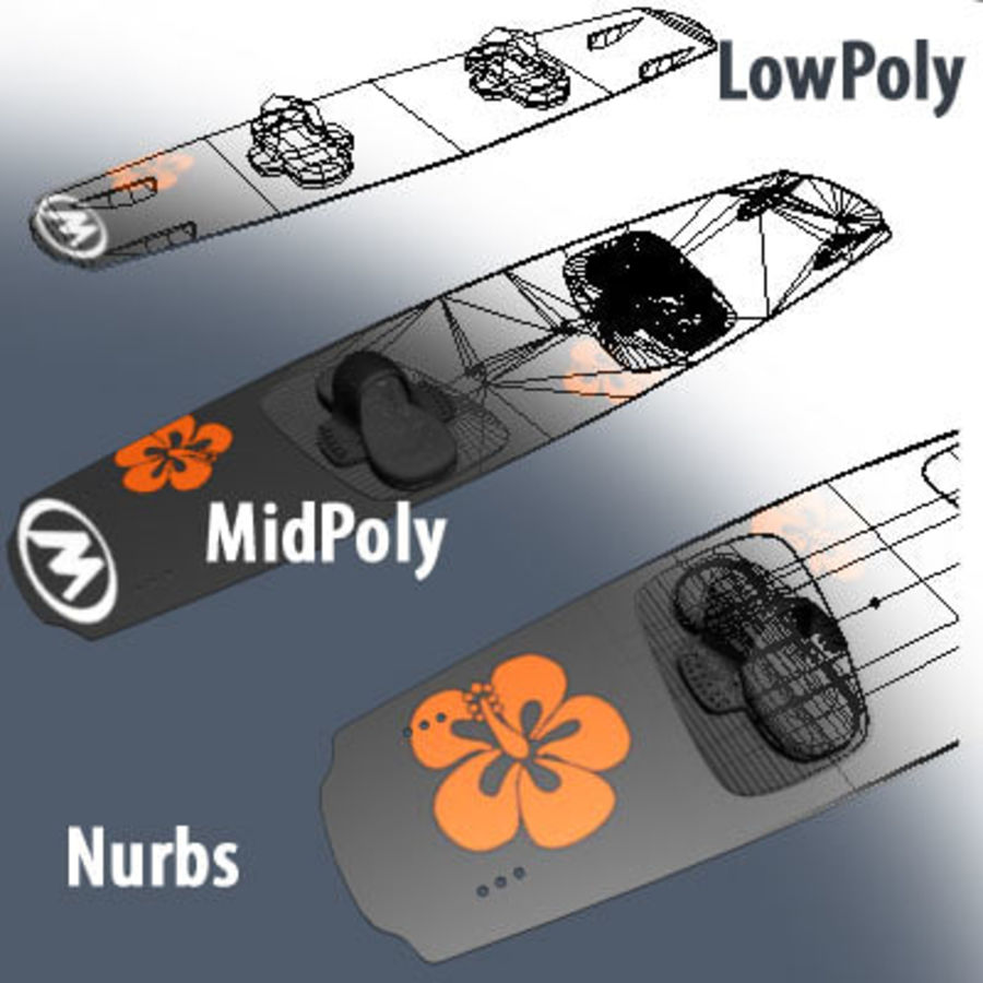 kiteboard royalty-free 3d model - Preview no. 3