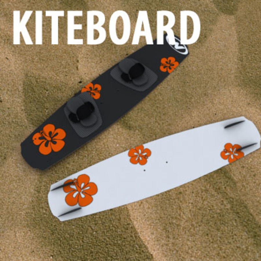 kiteboard royalty-free 3d model - Preview no. 1