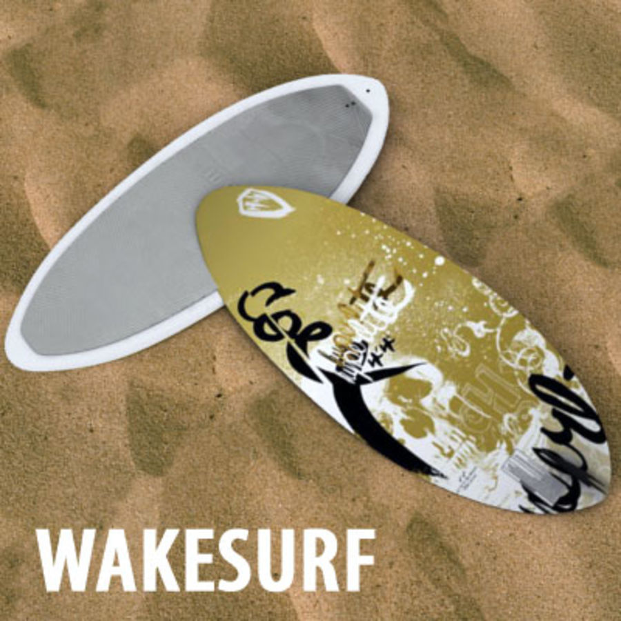 wakesurf royalty-free 3d model - Preview no. 1