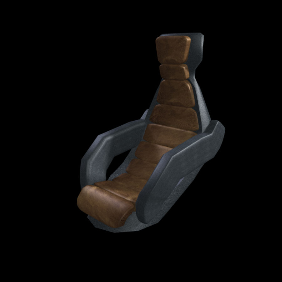Starship Seat (Max) royalty-free 3d model - Preview no. 1