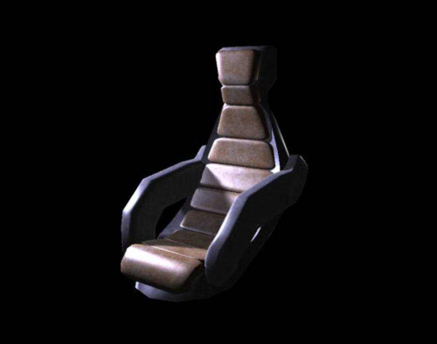 Starship Seat (Max) royalty-free 3d model - Preview no. 6