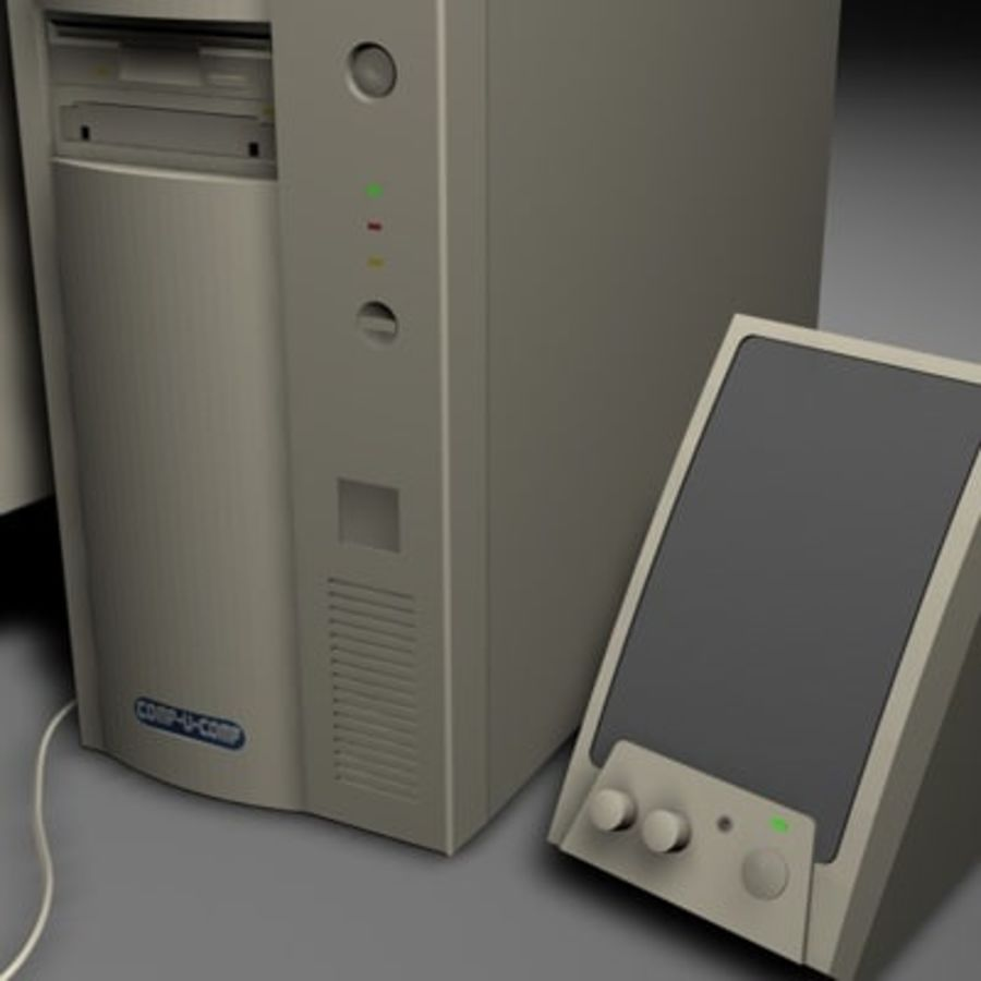 computer sys royalty-free 3d model - Preview no. 5