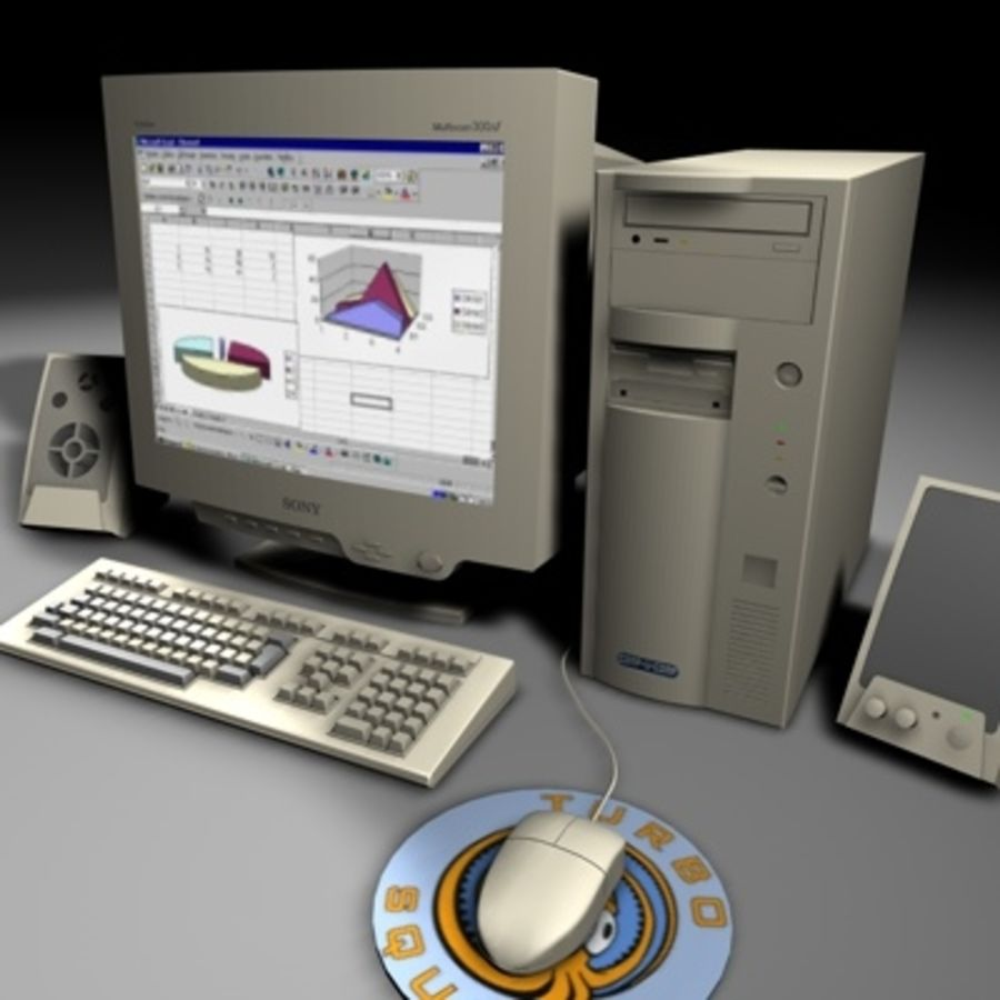 computer sys royalty-free 3d model - Preview no. 1