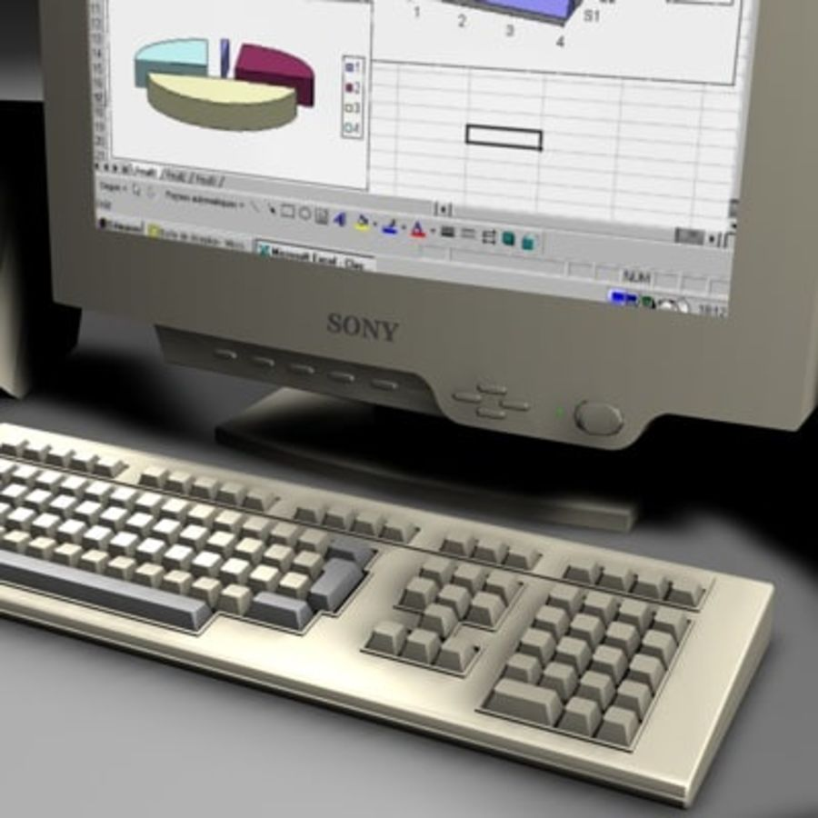 computer sys royalty-free 3d model - Preview no. 3