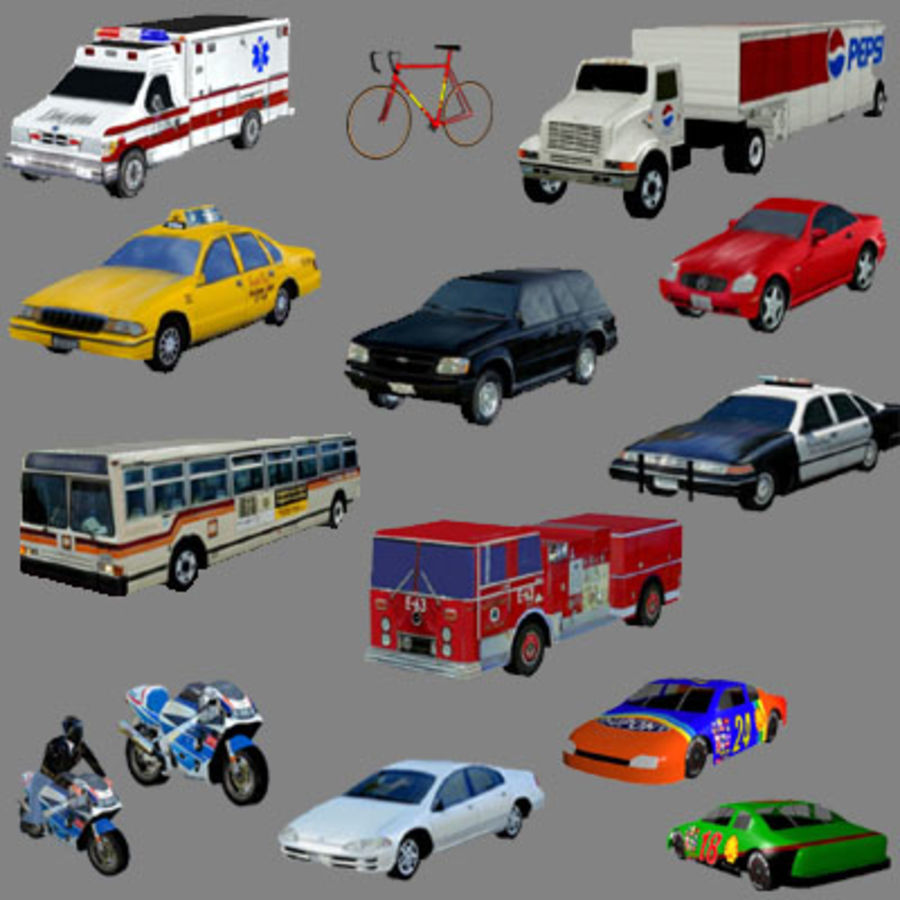 Ambulance Low Res 3ds royalty-free 3d model - Preview no. 3