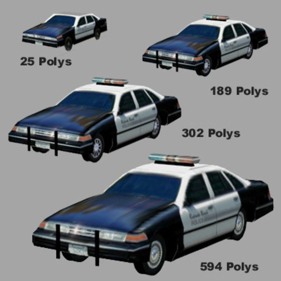 Ambulance Low Res 3ds royalty-free 3d model - Preview no. 5