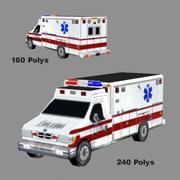 Ambulancia Baja Res. 3ds modelo 3d