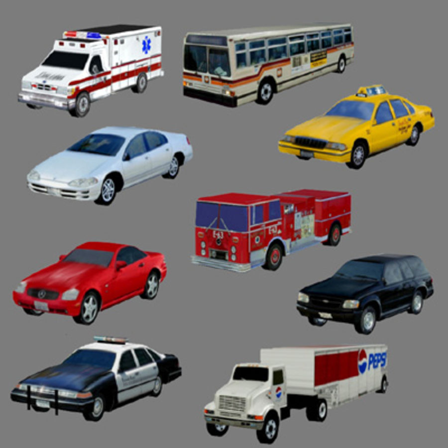 Ambulance Low Res 3ds royalty-free 3d model - Preview no. 7