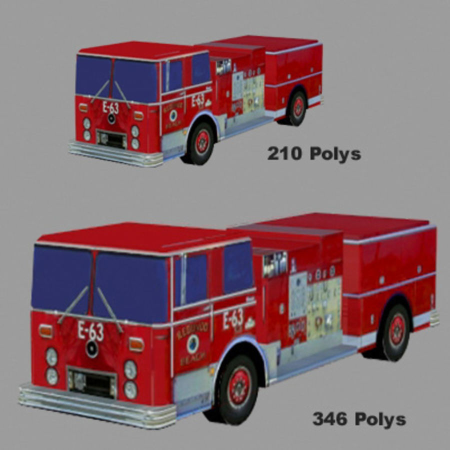 Ambulance Low Res 3ds royalty-free 3d model - Preview no. 4