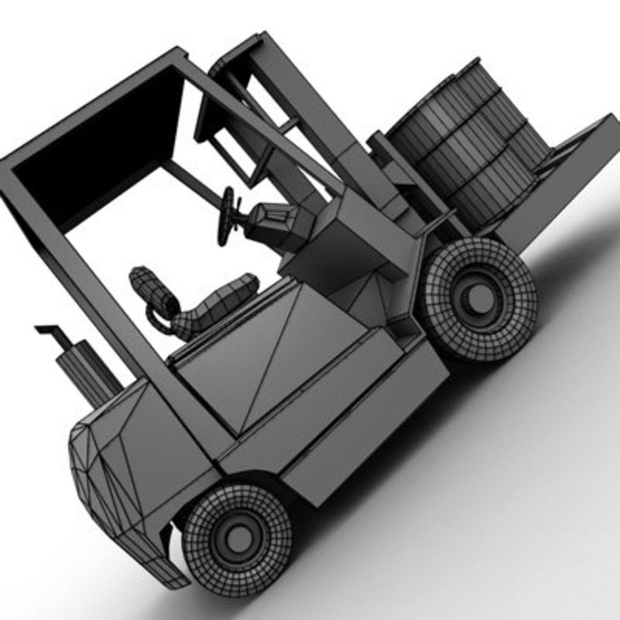 Petit chariot élévateur royalty-free 3d model - Preview no. 13