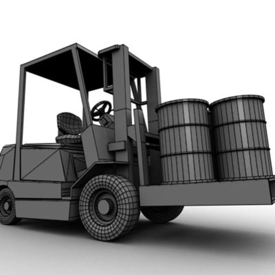 Petit chariot élévateur royalty-free 3d model - Preview no. 8