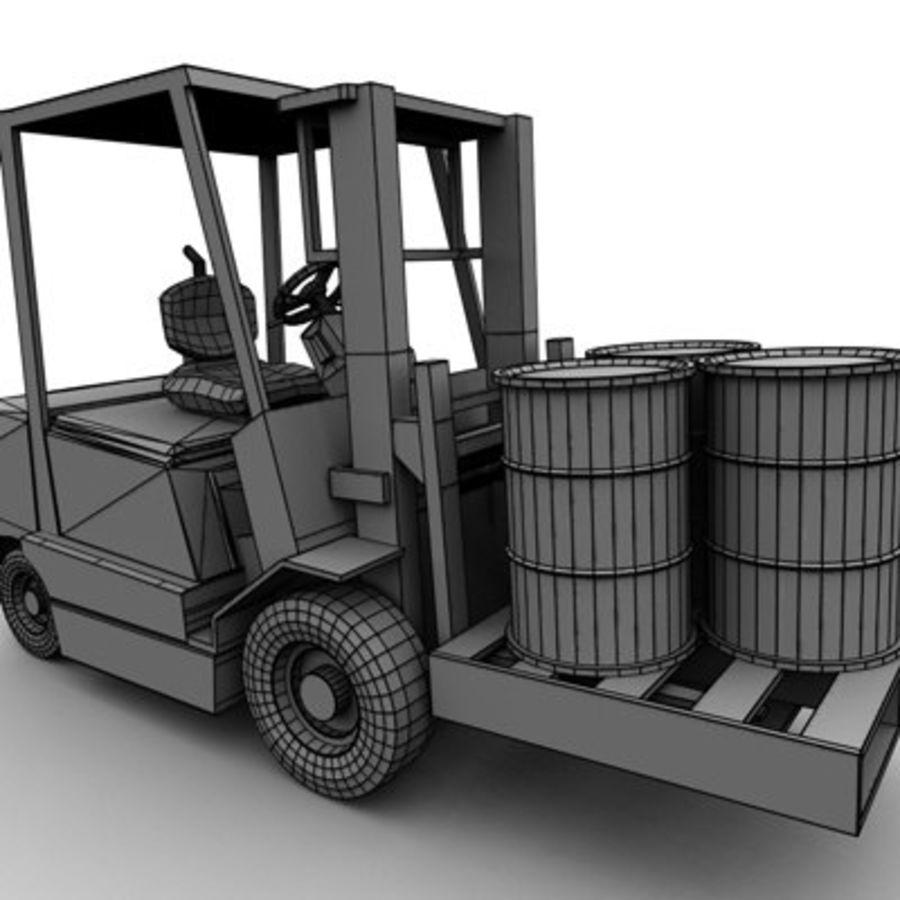 Petit chariot élévateur royalty-free 3d model - Preview no. 9