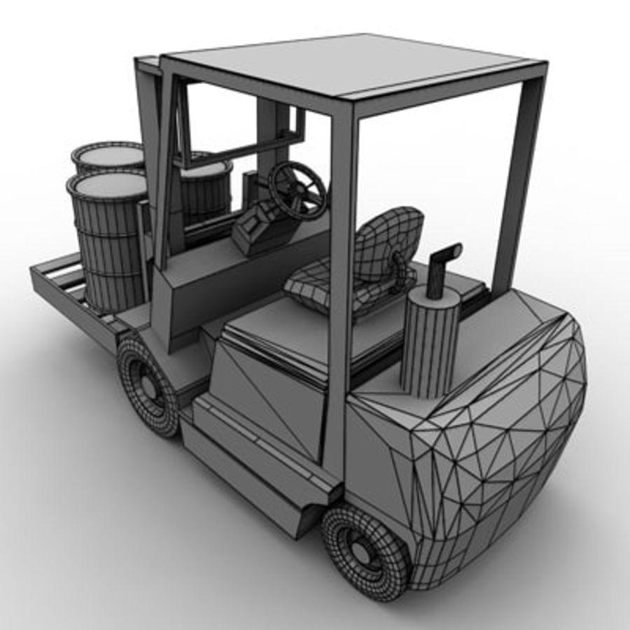 Petit chariot élévateur royalty-free 3d model - Preview no. 11