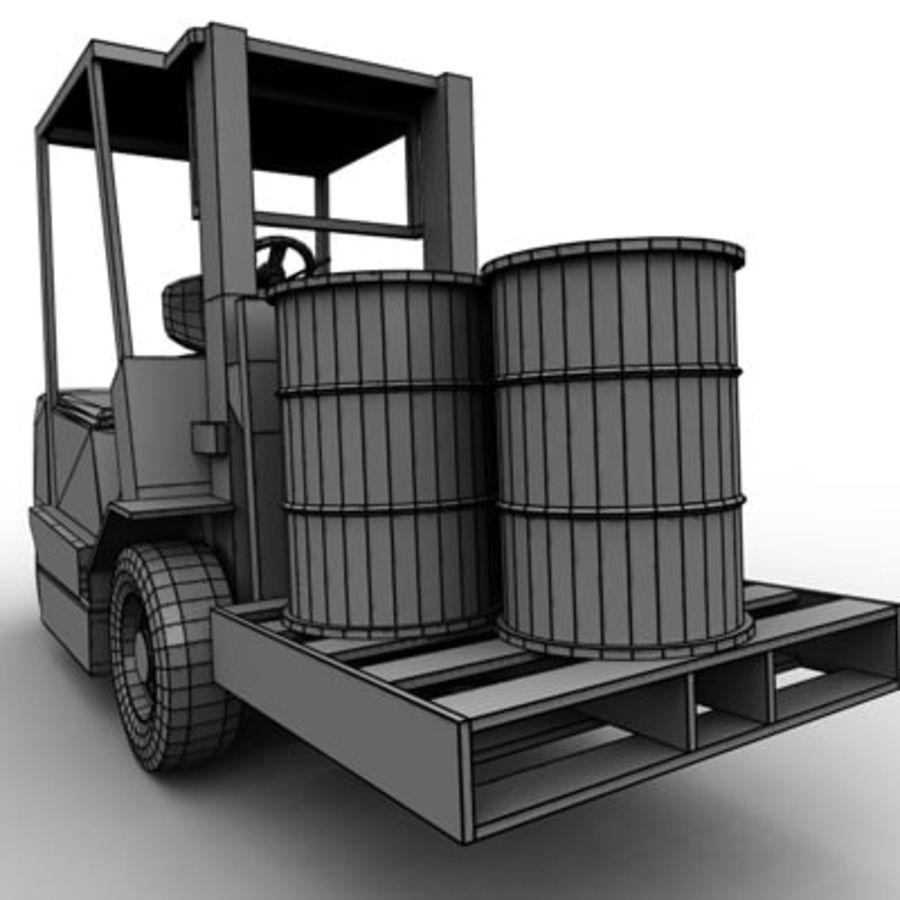 Petit chariot élévateur royalty-free 3d model - Preview no. 12