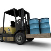Small Forklift 3d model