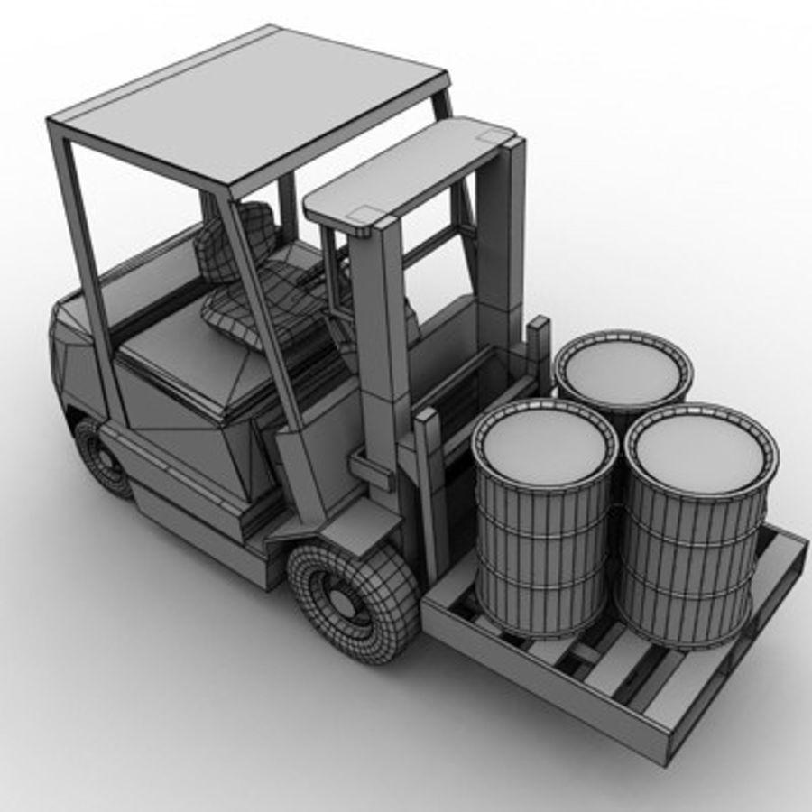 Petit chariot élévateur royalty-free 3d model - Preview no. 10