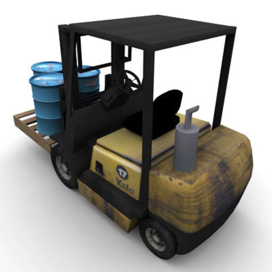 Petit chariot élévateur royalty-free 3d model - Preview no. 4