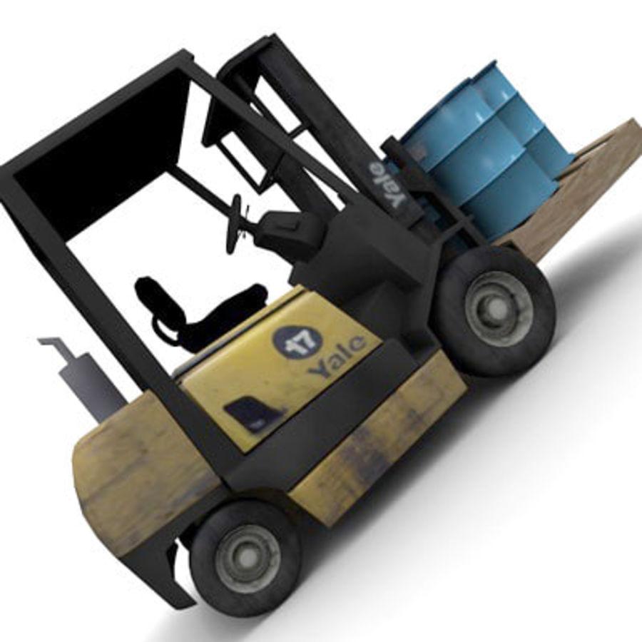Petit chariot élévateur royalty-free 3d model - Preview no. 6