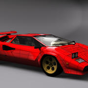 Lamborghini Countach (Walter Wolf custom) 3d model