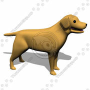 Perro amigable modelo 3d