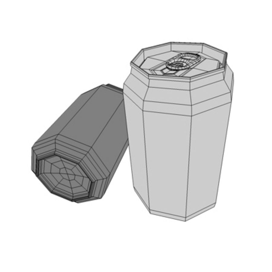 soda-beer can royalty-free 3d model - Preview no. 3
