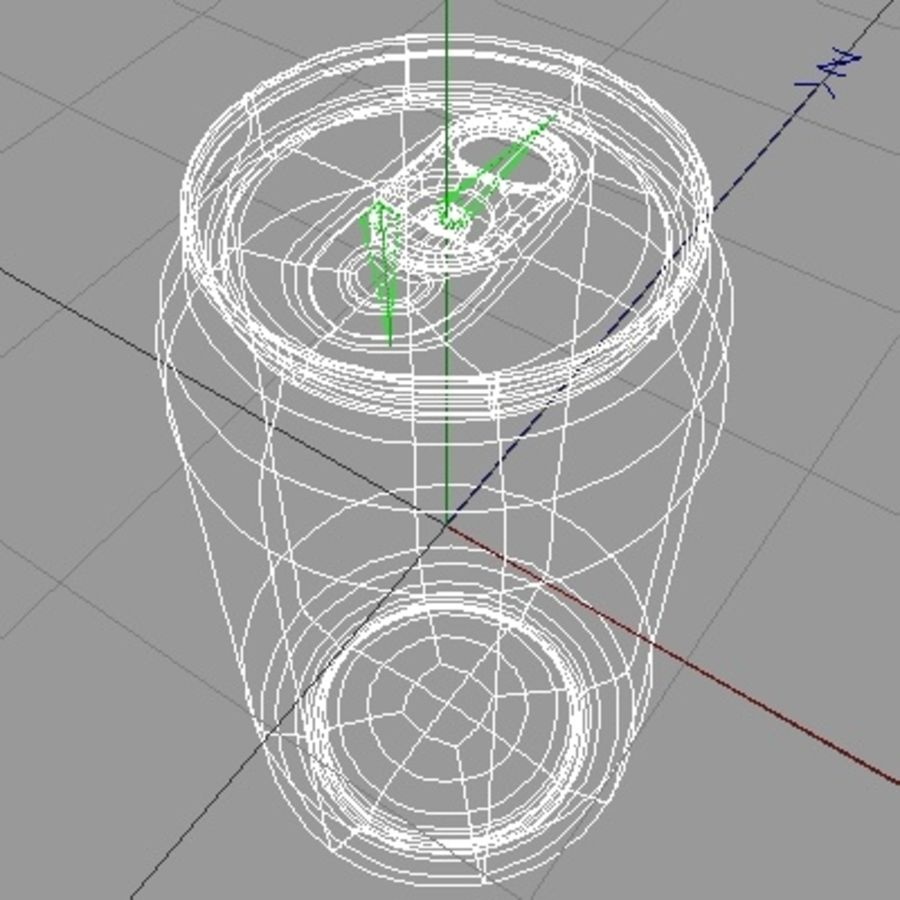soda-beer can royalty-free 3d model - Preview no. 7