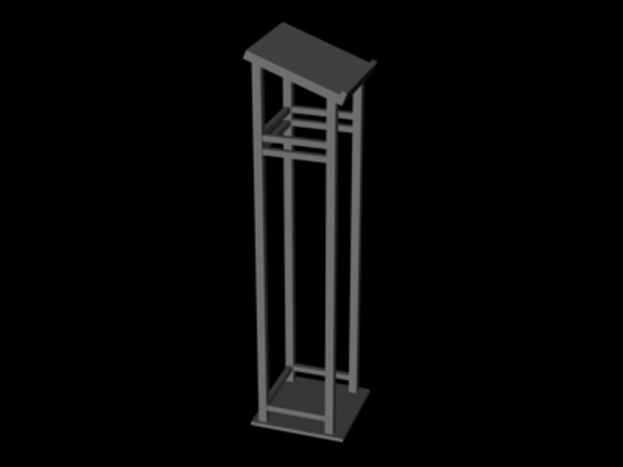 Podium.3ds royalty-free 3d model - Preview no. 1
