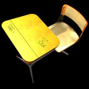 school desk max.zip 3d model