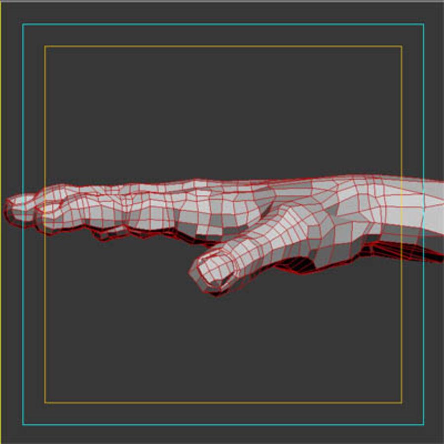 menselijke hand royalty-free 3d model - Preview no. 9