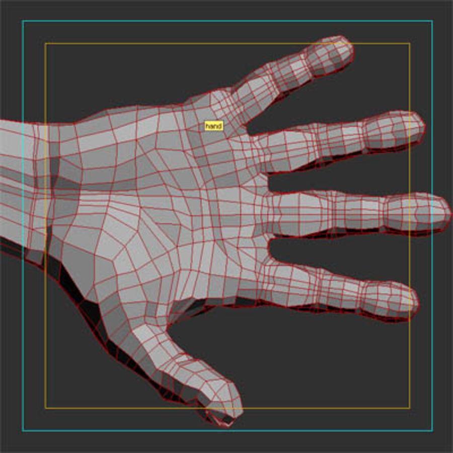 menselijke hand royalty-free 3d model - Preview no. 8