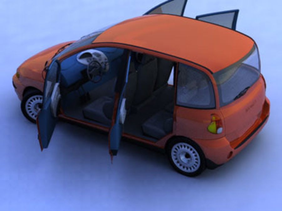 fiat multipla royalty-free 3d model - Preview no. 5