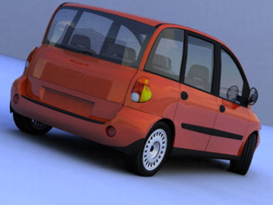 fiat multipla royalty-free 3d model - Preview no. 2