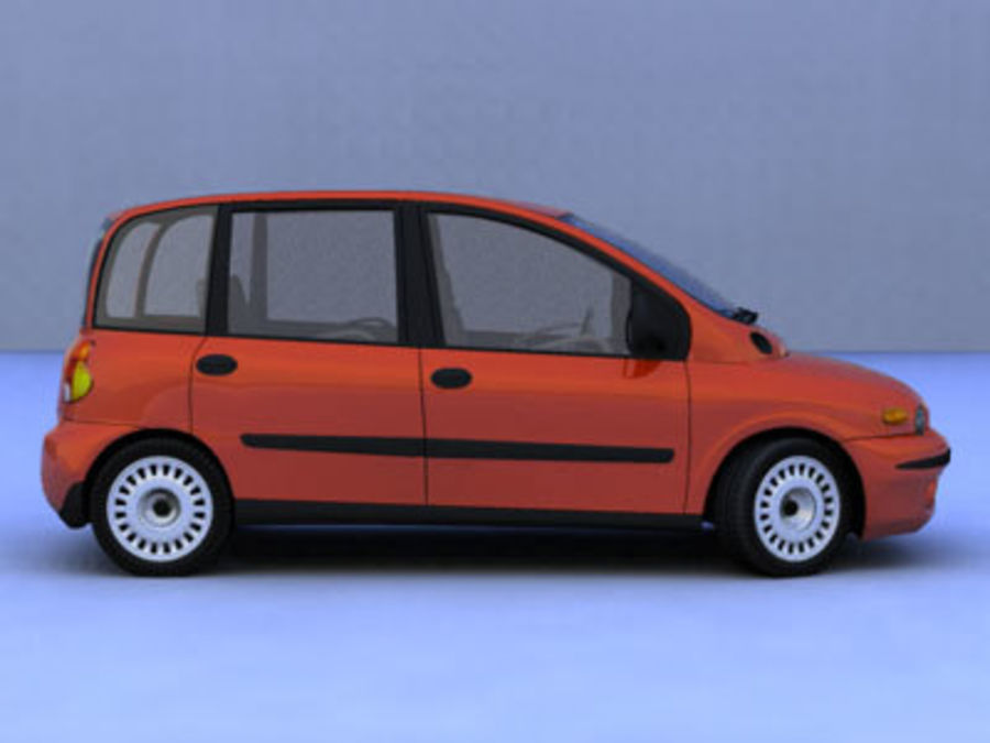 fiat multipla royalty-free 3d model - Preview no. 3