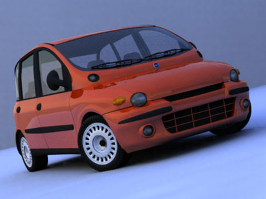 fiat multipla royalty-free 3d model - Preview no. 1