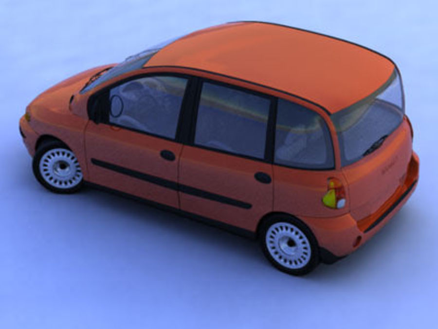 fiat multipla royalty-free 3d model - Preview no. 4