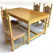 桌子和椅子套 3d model