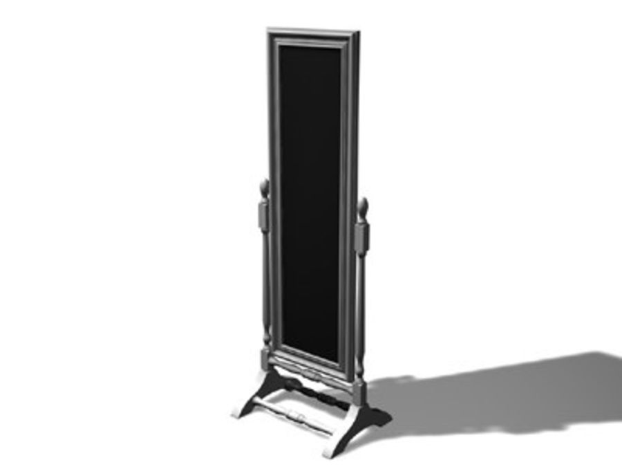 Floor Mirror.c4d royalty-free 3d model - Preview no. 2