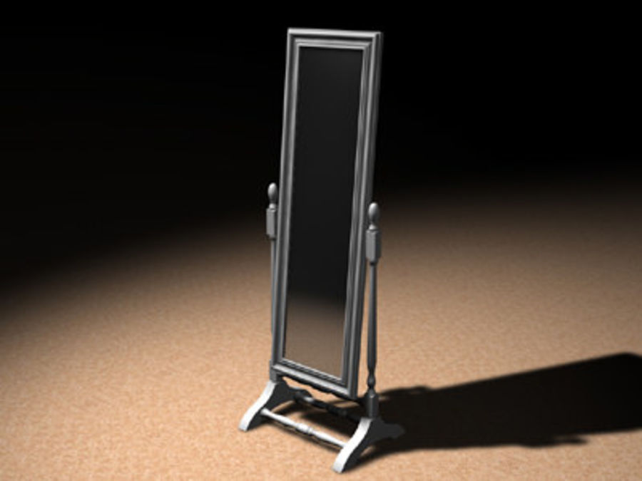 Floor Mirror.c4d royalty-free 3d model - Preview no. 1